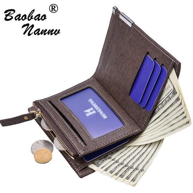 513ea8640f5c9 Männer Geldbörsen für Vertikale und Quer Business Männlichen Geldbeutel  Multi-kartenhalter Münzfach Geld Brieftasche Maschio