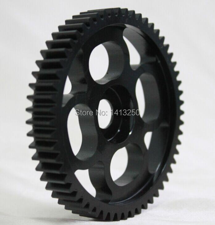 New arrival !!! Baja parts, Spur gear(metal) 66033 ,black available with free shipping ,retail and wholesale cnc main chassis ts h65001 orange available for baja metal parts baja parts wholesale and retail