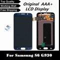 100% testado lcd substituição para samsung galaxy s6 g920 g920f display lcd branco/azul escuro/ouro com tela de toque digitador da tela