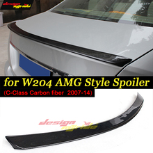цена на W204 Carbon Fiber Rear Trunk Tail Wing Spoiler AEAMG style For Mercedes Benz C Class W204 2007-14 C180 C200 C250 C300 C350 sedan