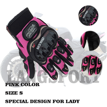 women small size motorcycle gloves size S ,M electric bicycle female  full finger gloves orange pink color gloves
