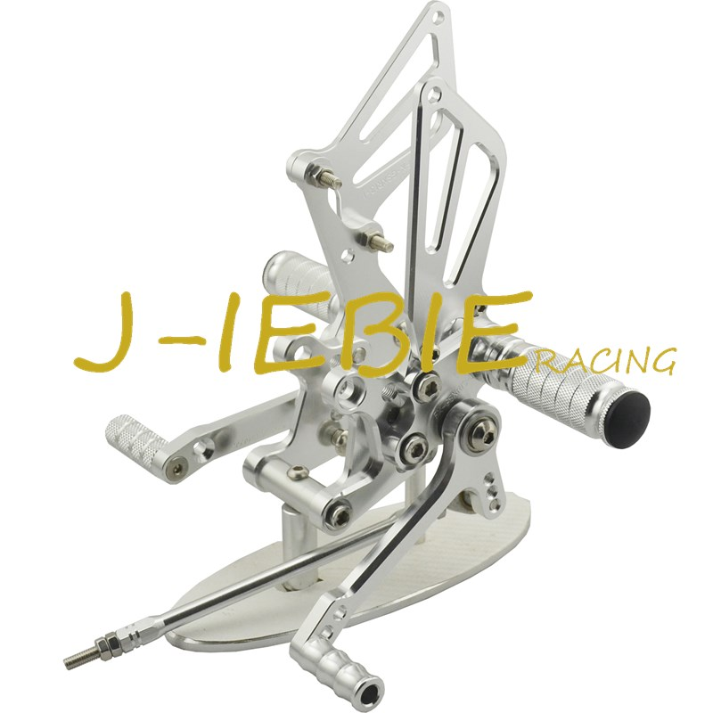 CNC Racing Rearset Adjustable Rear Sets Foot pegs For Suzuki GSXR1000 2001-2004 GSXR600 GSXR750 2001-2005 SV650 SV1000 SILVER adjustable rider rear sets rearset footrest foot rest pegs gold for suzuki gsxr600 gsxr750 gsxr 600 750 2011 2012 2013 2014 2015