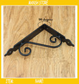 2pcs/lot 14*19cm Black Shelf Brackets  Metal Artifact Iron Wall Brackets for Home Store Right Angle  Free Shipping