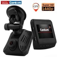 Conkim DAB211  Super HD 1440P Auto Video Recorder Registrator Ambarella A12 Dash Cam With GPS Night Vision WDR 2.31″LCD