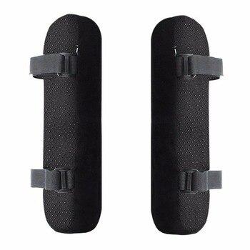 2pcs 의자 팔걸이 패드 울트라 소프트 메모리 폼 팔꿈치 베개 지원 팔꿈치 릴리프에 대 한 홈 또는 사무실의 자에 대 한 보편적 인 적합