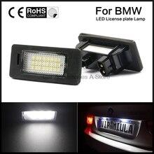 Пара Подсветка регистрационного номера лампы накаливания 6000 К холодный белый для BMW E82 E90 E92 E93 M3 E39 E60 E70 X5