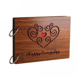 8 cali 22x16 cm DIY drewniane ramka na zdjęcia Album księga gości na rocznicę ślubu Albumy zdjęć    -