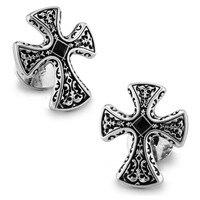 Templariusze SPARTA Białego Złota Galwanicznie Kryształ Spinki męskie Spinki Do Mankietów + Darmowa Wysyłka!!! metalowe guziki