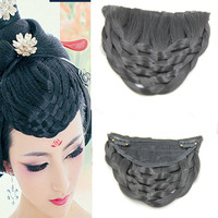 U Style Bang Hair Clip China Bang Human Hair Wig Vintage Hair Bang Extension Ancient Princess