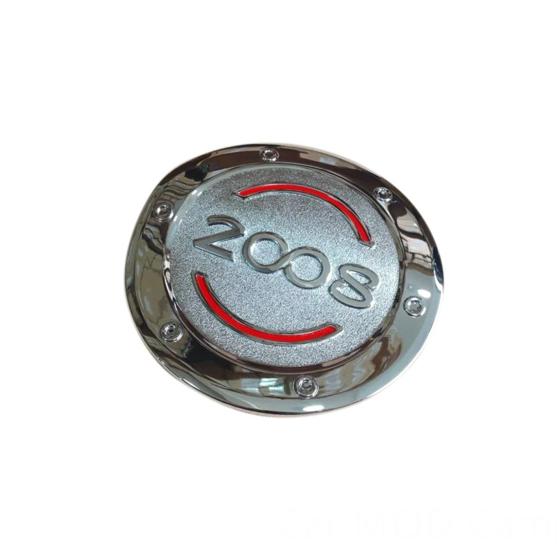 For Peugeot 2008 2014 2015 2016 2017 ABS Chrome Oil Fuel Gas Tank Cap Cover Pad Sticker Cover Trim 1pcs Car Styling Accessories!