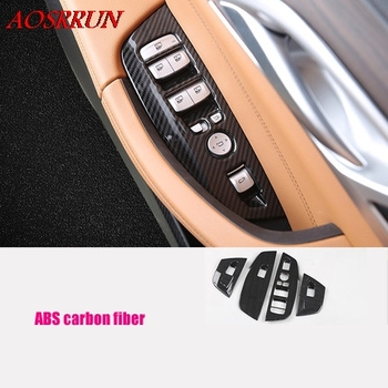 car-styling fit For BMW X3 G01 2017 2018 2019 Car Inner Door Armrest Window Lift Button Cover Kit Trim LHD car Accessories 4PCS image