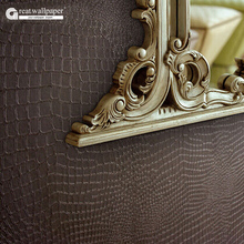 Great wall Pure crocodile skin striae waterproof  3d wallpaper ,Embossed wallpaper living room backdrop,papel de parede pvc