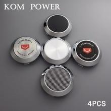 KOM 4pcs/lot 68/64mm clip chromr balnk caps no logo no emblem wheel center cap vossen rims hubcaps centro tapas llantas цена и фото