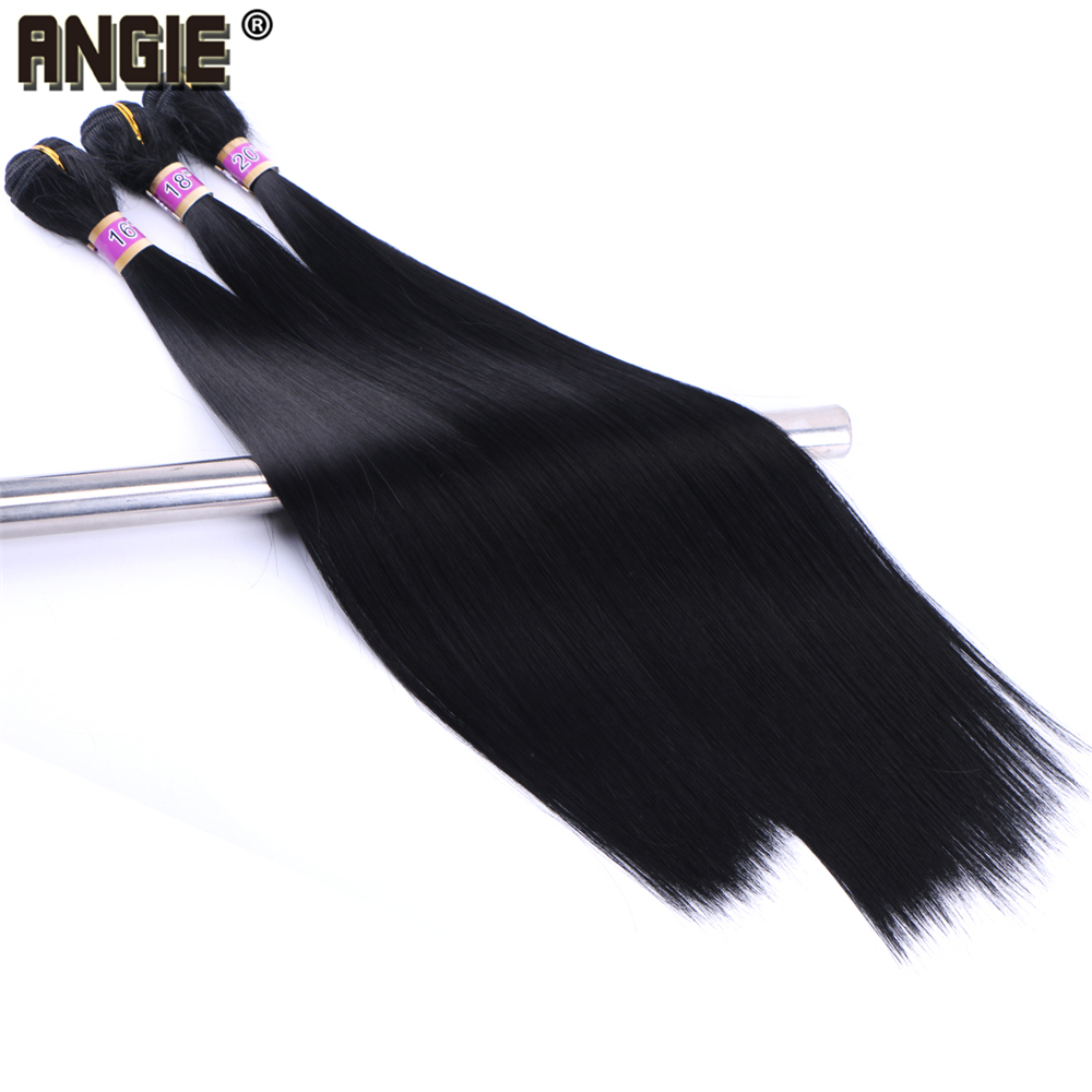 Angie Synthetic Hair Weave Silky Straight Hair Bundles 1 Piece 70 Gram 16 18 20 Inches Hair Extension For Women