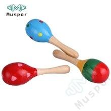 2 деревянные погремушки maraca шейкер перкуссия детская музыкальная игрушка подарок Orff инструменты дети Дошкольное раннее образование