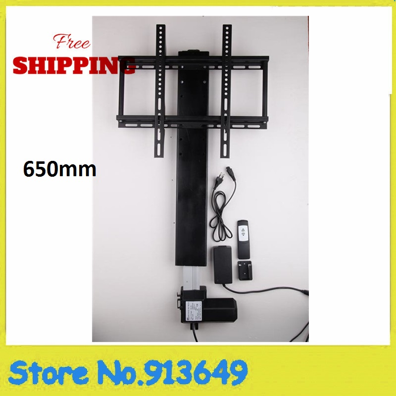 все цены на Free shipping TV Mount Automatical TV Lift 650mm W/ Remote and Mounting Brackets for Home онлайн