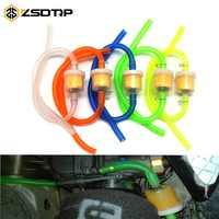 ZSDTRP-filtro de combustible de gasolina y manguera de combustible, conjunto de abrazadera de tubo y línea para Dirt Pit Bike, motocicleta, ciclomotor, ATV, Universal, 1 uds.