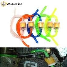 ZSDTRP 1PCS Gasoline Oil Fuel Filter&Fuel Hose Tube&Line Clamp Set For Dirt Pit Bike Motorcycle Moped Scooter ATV Universal