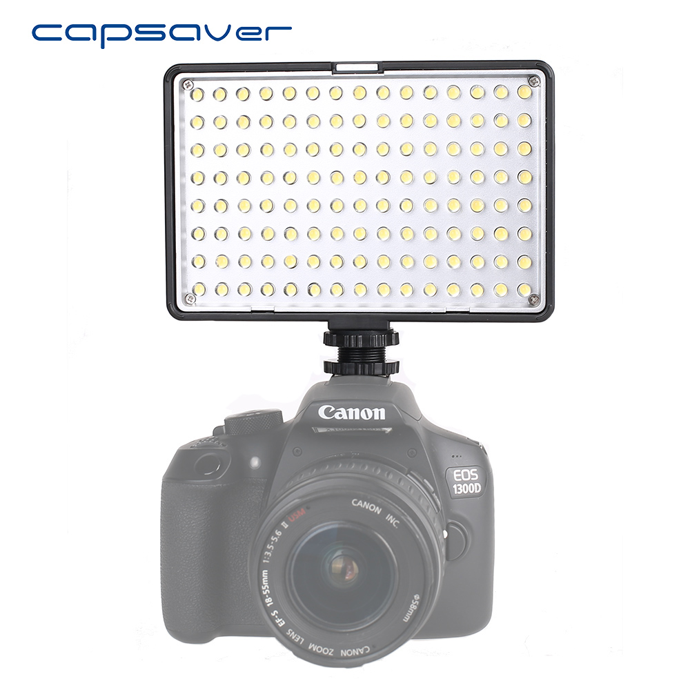 capsaver TL-120S Professional Photographic Lighting LED Video Light Dimmable 3200K-5600K Hand-held Camera LED Studio Light Lampcapsaver TL-120S Professional Photographic Lighting LED Video Light Dimmable 3200K-5600K Hand-held Camera LED Studio Light Lamp