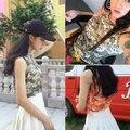 Señoras Sin Mangas Atractivo del Arte Japonés Océano Olas Ukiyo Imprimir Hombro Bralet Crop Top Mujeres Chaleco Cami Tank