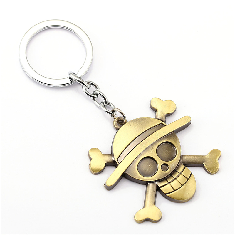 One Piece Anime Keychain Luffy Straw Hat Pendant Key Ring For Fans Gift Action Figure Cosplay Toys