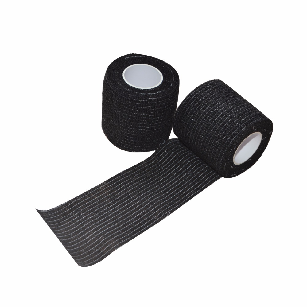 48Pcs Lot Non woven Stretch Gauze Self Adhesive Cohesive Medical Bandage 5cm 4 5m Black