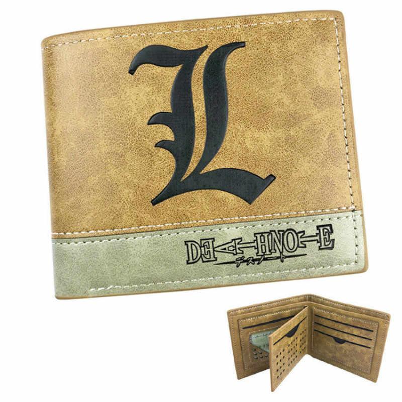 Лидер продаж, японский аниме, надпись «смерти», L символ, pu кожаный короткий бумажник с изображением персонажей из мультфильма, держатель для кредитных карт, кошелек