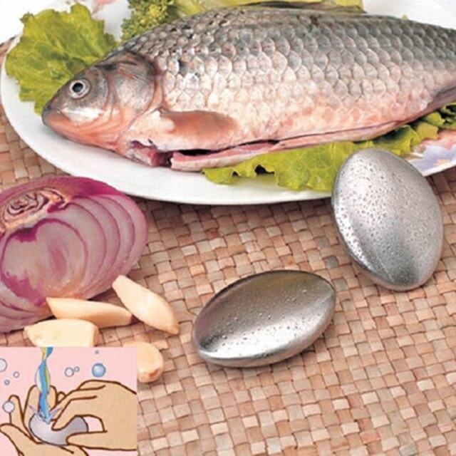 1 unid Chef de jabón de acero inoxidable mano quita olores Bar jabón mágico elimina ajo/cebolla Etc huele Gadgets de cocina herramienta de la cocina