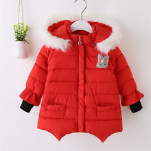 Winter Children Jacket Hoodies children coat Girls Clothes Kids jackets Toddler Outerwear Warm Coat for girls