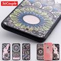 Case para iphone 7 5S mandala floral del cordón atractivo 5 sí 7 plus moda vintage flor transparente cajas del teléfono cubierta para iphone 6 6 s plus