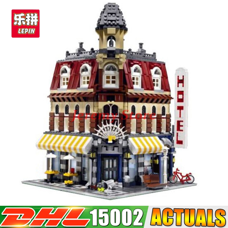 2018 New 2133Pcs LEPIN 15002 Cafe Corner Model Building Kits Blocks Kid DIY Educational Toy Children day Gift Clone 10182 2133 pcs lepin 15002 cafe corner model building kits blocks kid diy educational toy children day gift compatible with legoingly