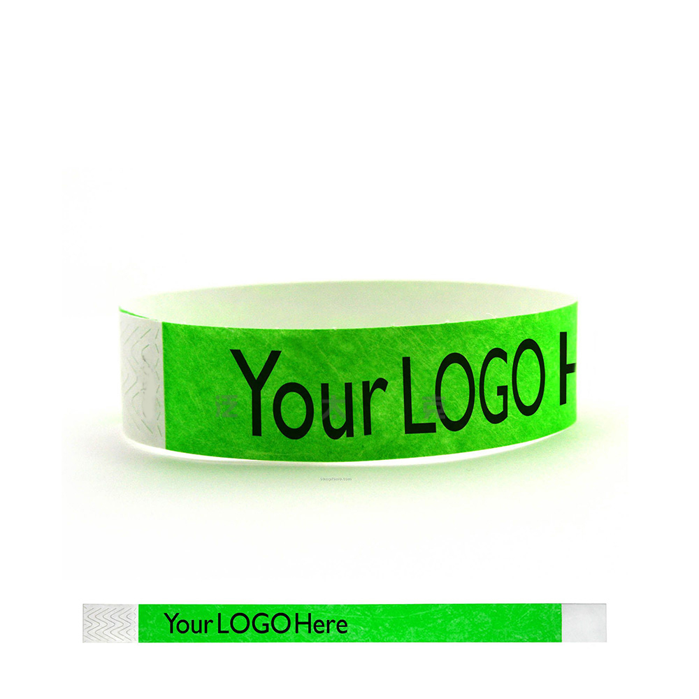 1000pcs 1 color logo text printing waterproof custom wristband custom tyvek paper wristbands wristbands for party