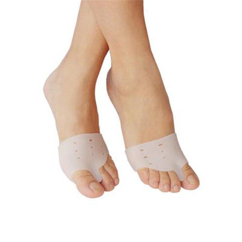 1 Pair medical silicone Gel foot fingers Toe Separator thumb valgus protector Bunion adjuster Hallux Valgus Guard feet care цена