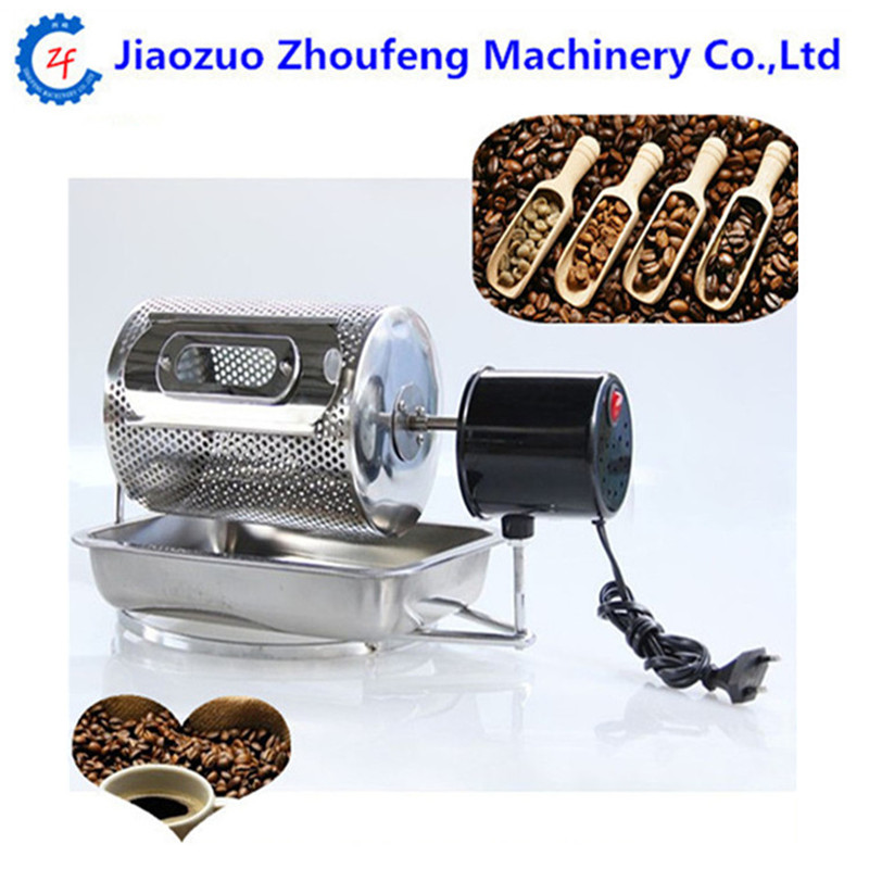 Electric stainless steel coffee beans roaster mini coffee roasting machine 220v nuts baking tools for home use 220v 600w 1 2l portable multi cooker mini electric hot pot stainless steel inner electric cooker with steam lattice for students