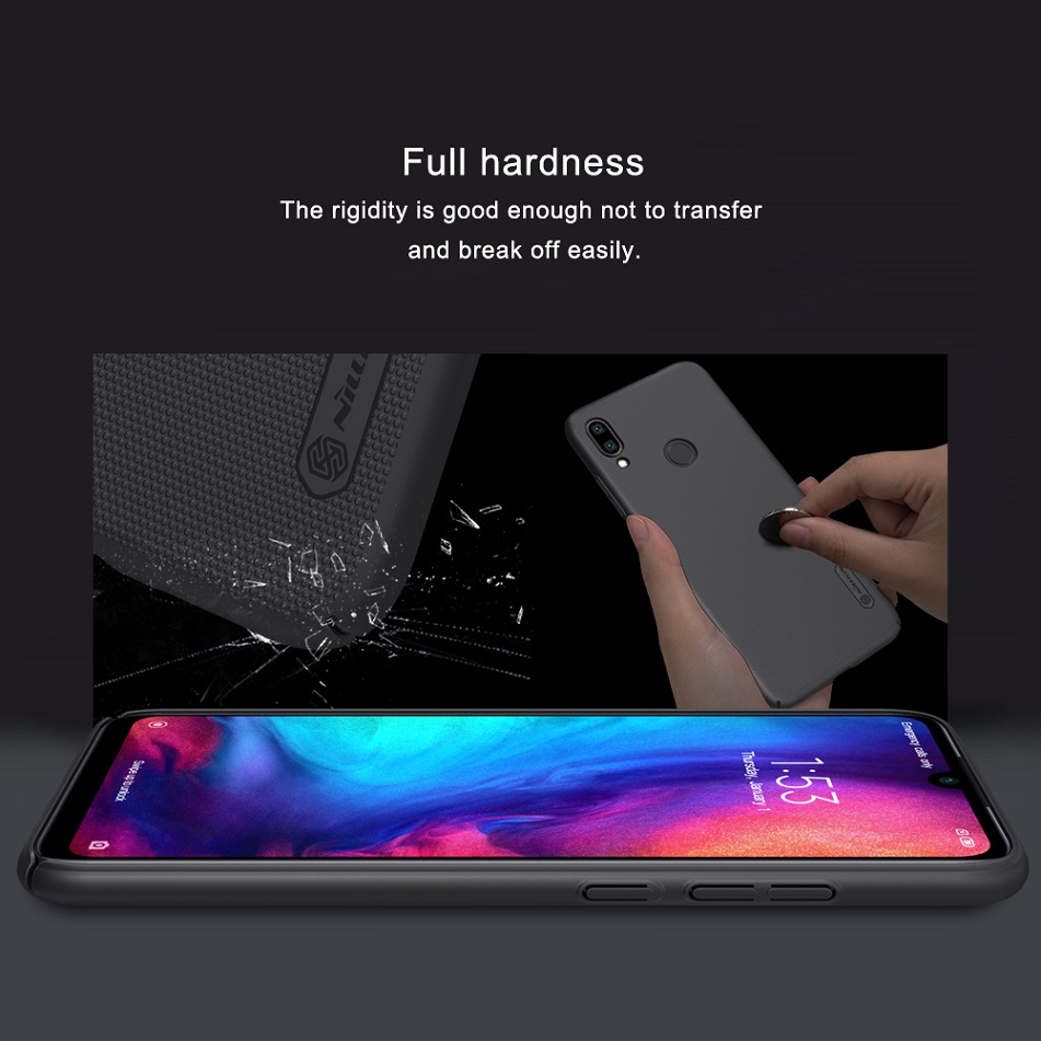 Image 4 - Redmi note 7 case 6.3 NILLKIN Frosted PC Matte hard back cover Gift Phone Holder For xiaomi redmi note 7 pro case Redmi note 7s