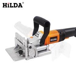 HILDA 760W herramienta eléctrica para hacer galletas, tenonadora para madera, máquina para galletas, máquina para rompecabezas, Groover Motor de cobre