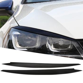 Reflektory brwi powieki wykończenia naklejki pokrywa dla volkswagena VW Golf 7 MK7 GTI R Rline akcesoria Car Styling tanie i dobre opinie VCiiC Głowy Inne naklejki 3d 0inch Zmieniające kolor Na światła samochodowe W opakowaniu for Volkswagen Golf MK7 Eyelids