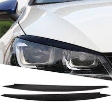 المصابيح الأمامية الحاجب الجفون تقليم ملصقات غطاء ل Volkswagen VW Golf 7 MK7 GTI R Rline اكسسوارات السيارات التصميم