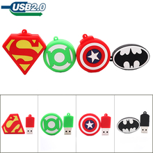 Pendrive cartoon heros  shield usb stick 4G 8G 16G 32G 64G pen drive cartoon super heros memory stick creative usb flash drive netac usb flash drive 8g pen drive 16g 32g with write protect encrypted pendrive usb 2 0 flash usb drive memory usb stick for pc