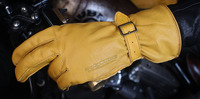 Free Shipping UBG301 Ha lle Indian Retro Leather Glove Motorcycle Glove Motorcycle Ride Glove Men's Long Glove Size: S 2XL