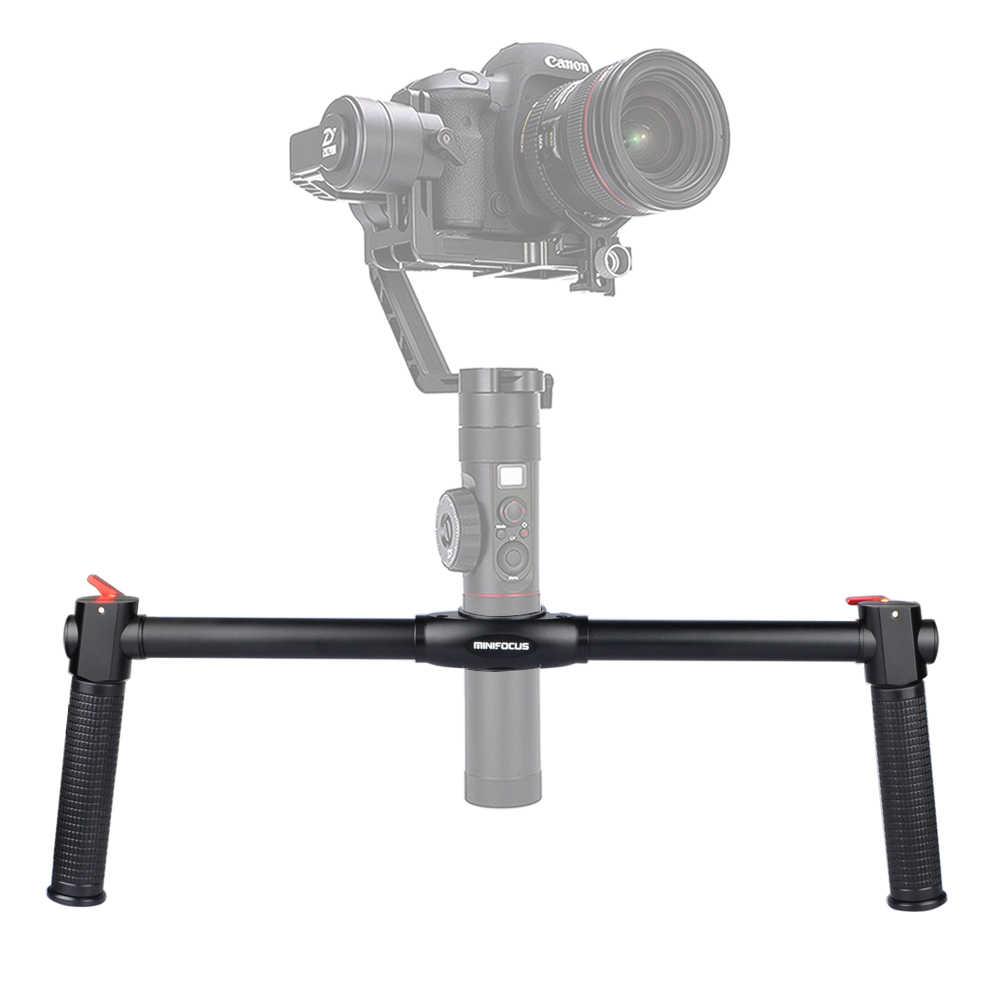 Aperto de Mão dupla Kit de Suporte Cardan Punho Prolongado Bar Pólo de Montagem para Zhiyun Guindaste 2 Cardan Handheld Câmera Estabilizador Aperto