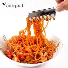 Щипцы для спагетти щипцы для пасты из нержавеющей стали Ручка салат кухонная утварь лапша зажим ручка для приготовления пищи столовые приборы для пасты