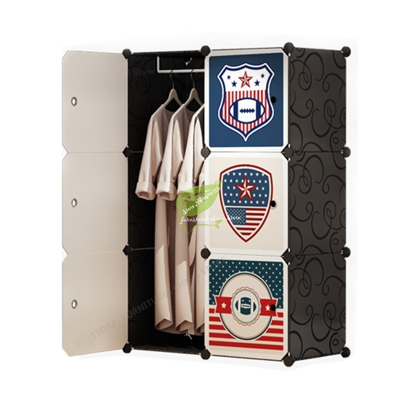 Multifunction Plastic Storage Cabinet Wardrobe font b Closet b font Assembly Simple and Easy Folded Dotomy