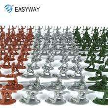 EASYWAY Mini Modelos Boy Soldiers Figuras Set Classic Toys Avorite Plástico Verde Militar Do Exército Modelo Presente Das Crianças Bonecas Estatueta