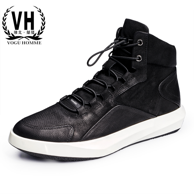 New England men high sports leisure fashion a genuine leather shoes all-match Martin boots men boots купить недорого в Москве