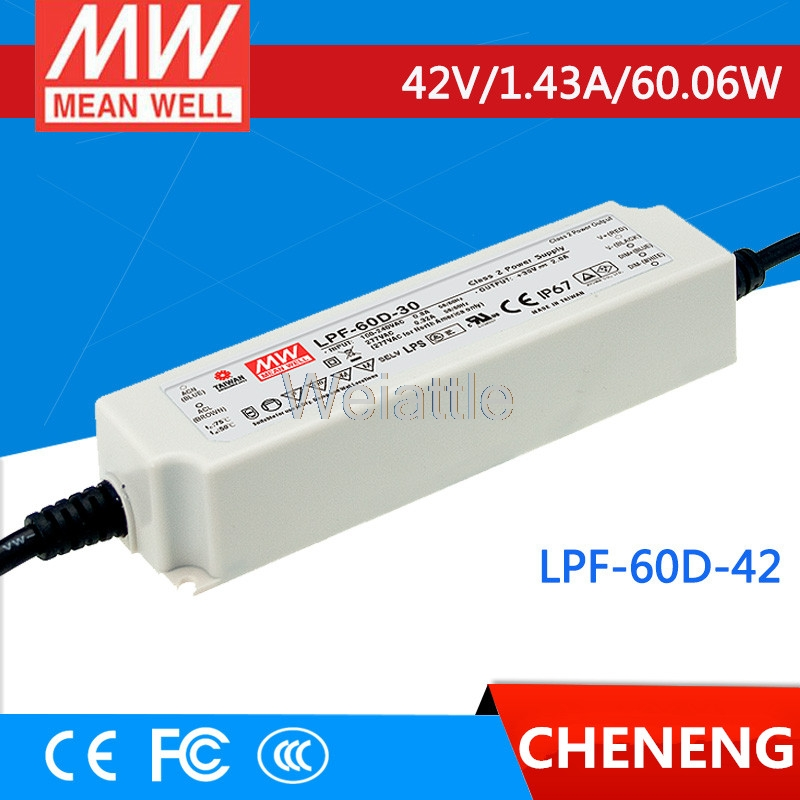 MEAN WELL original LPF-60D-42 42V 1.43A meanwell LPF-60D 42V 60.06W Single Output LED Switching Power Supply цена