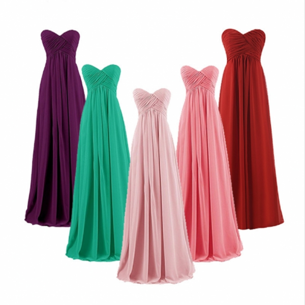 A-line Sweetheart Plus Size Pink Burgundy Long Bridesmaids Dresses Wedding Party Prom Party Gown Gress 2019 Wholesale Vestidos