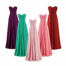 A-line Sweetheart Plus Size Pink Burgundy Long Bridesmaids Dresses