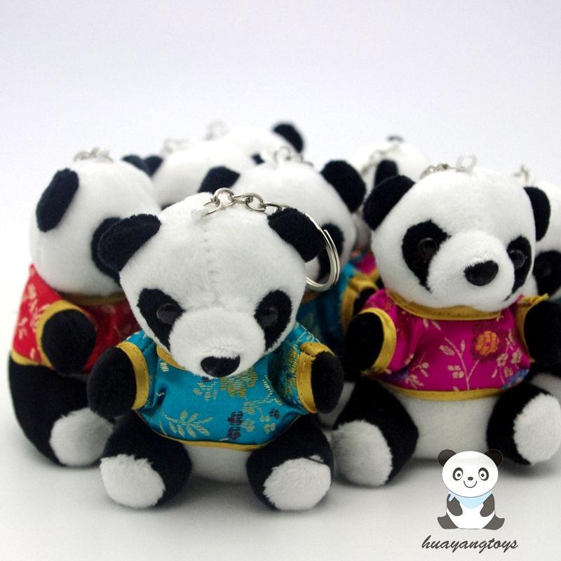 Panda медальон вокализация музикални аксесоари Тан костюм висулка мобилен телефон ключодържател плюшена играчка