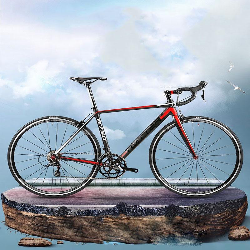 700C Road Bike 18 Speed Light Aluminum Speed Change Racing Bike Rigid Double V Brake Super Comfortable Cushion